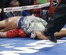 Manny Pacquiao hits the canvas after Juan Manuel Marquez scores a knockout. AP
