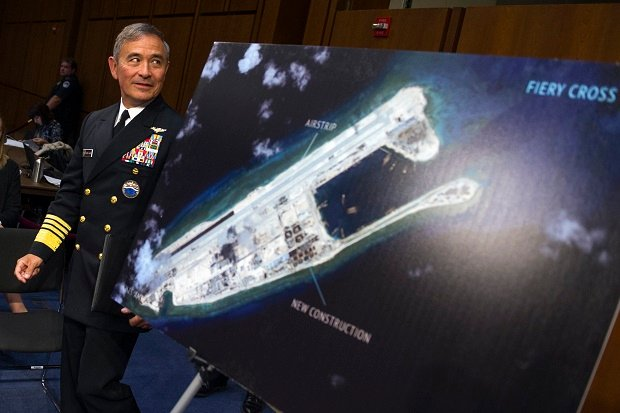 Harry Harris South China Sea island reclamation spratly islands arbitral tribunal decision verdict west philippine sea