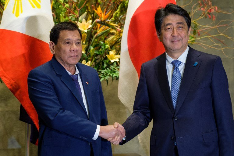 Sea dispute high on agenda of Duterte's 7th meet with Abe